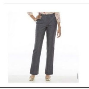 NWT Gloria Vanderbilt Cassidy Pants & belt stretch